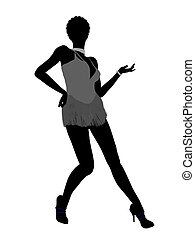 African American Showgirl Silhouette - African american...