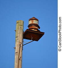 An Old Fire Siren - Old fire siren used to warn the area of...