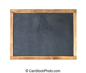 School board Blank empty frame blackboard, with chalk traces...