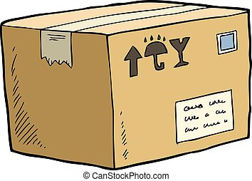 Cardboard box on a white background vector illustration