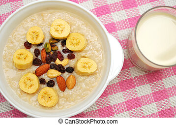 Healthy cereal and soya bean milk - Cereal and soya bean...