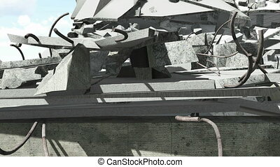 Construction debris closeup - Closeup of the building...
