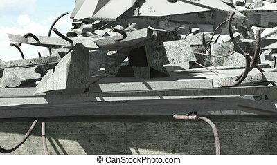 Construction debris closeup - Closeup of the building...