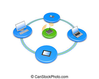 Wireless network - Image contain clipping path