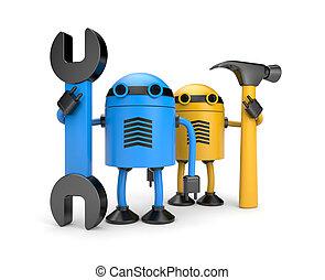 trabajadores,  robot