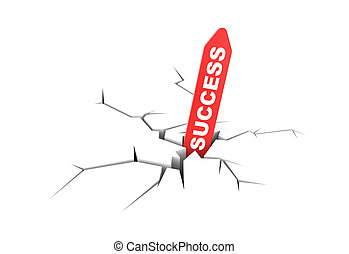 Success metaphor - Business metaphor. Isolated on white