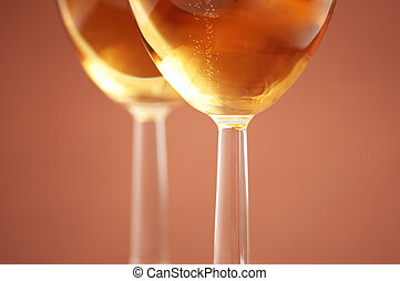 Two wine glasses with shallow depth of field