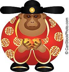 ChineseMonkeyGodOrangesColorV - 2016 Chinese Lunar New Year...