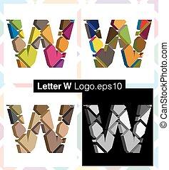 3d font letter W