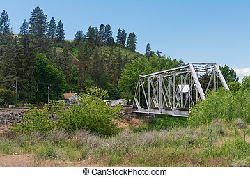 Trestle - Railroad trestle over the Palouse River, Colfax,...
