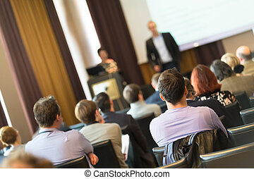 Audience in the lecture hall - Speaker at Business...