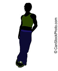 Casual Man Illustration Silhouette - Casual dressed male...