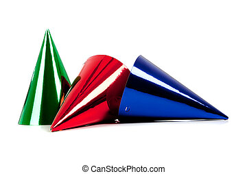 A party hats on a white background