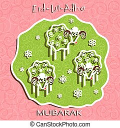 Muslim community festival of sacrifice Eid Ul Adha greeting...