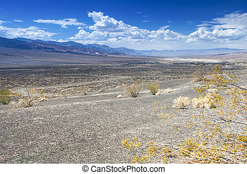 Ubehebe Crater in Death Valley National Park, California...