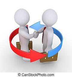 Businessmen make agreement