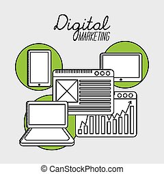digital marketing design, vector illustration eps10 graphic