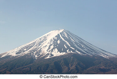 Mount Fuji in blue sky of background