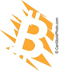 Bitcoin scratch - Bitcoin logo design best for web pages.