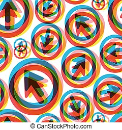 Arrows Seamless pattern Vector illustration Can be used for...