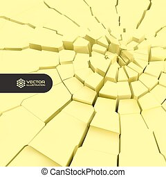 Cracked background 3d vector illustration Can be used for...
