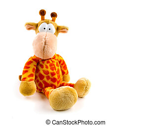 Soft Stuffed Toy Giraffe isolated on white background She...