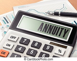 calculator with the word annuity