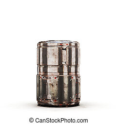 sci fi military barrel dirt bronze - high quality 3d render...