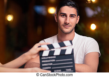 Professional Actor Ready for a Shoo - Portrait of a handsome...