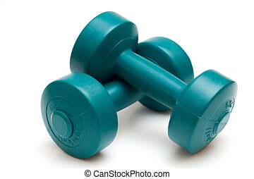 Dumbells isolated on white