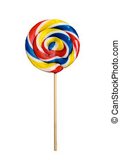 Lolipop isolated on white