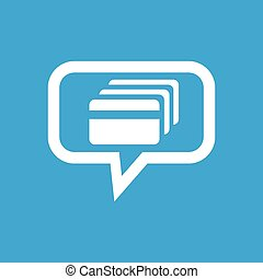 Credit card message icon - Image of credit card in chat...