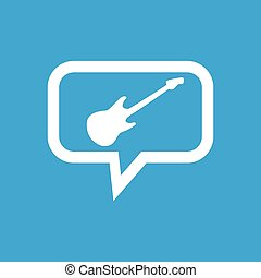 Guitar message icon