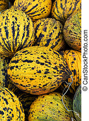 Melons at market place