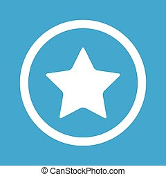 Favorite sign icon - Image of star in circle, isolated on...