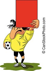 Fanny referee - Vector illustration of football (soccer)...