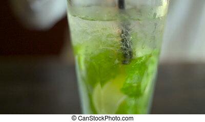 Mojito cocktail - Ice cold Mojito cocktail