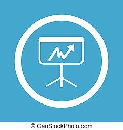 Graphic presentation sign icon