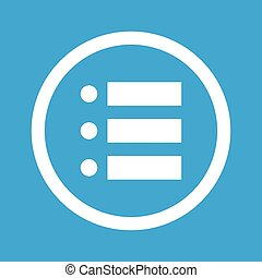 Dotted list sign icon - Image of dotted list in circle,...