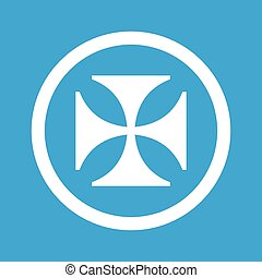 Maltese cross sign icon - Image of maltese cross in circle,...