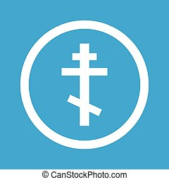 Orthodox cross sign icon - Image of orthodox cross in...
