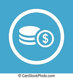 Dollar rouleau sign icon - Image of dollar rouleau in...