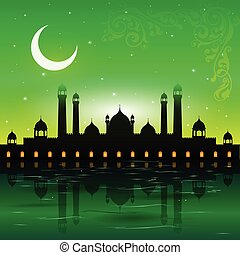 Eid Mubarak background - easy to edit vector illustration of...