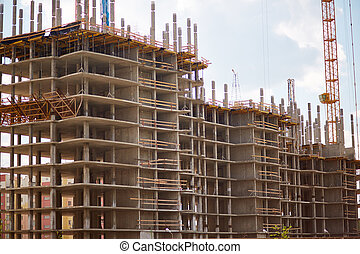 Building structure - New building structure in urban...