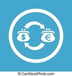Dollar-euro exchange sign icon