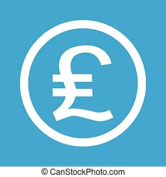 Pound sterling sign icon - Pound sterling symbol in circle,...