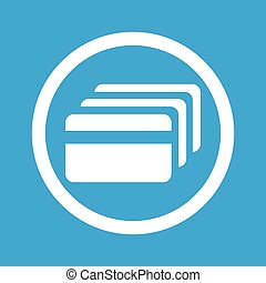 Credit card sign icon - Image of credit card in circle,...