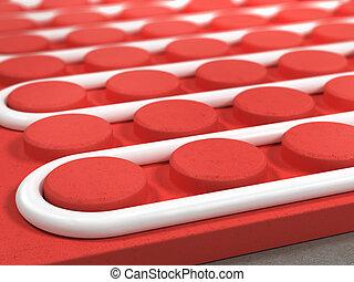 Radiant floor, heating, tube