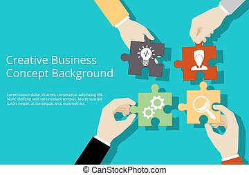 Creative business concept background Solution and success,...