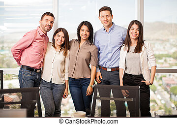 Business people in casual attire